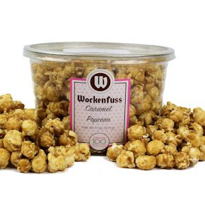 Celebrate National Candy Month with a tub of our homemade caramel popcorn!